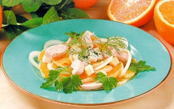Салат из апельсинов и