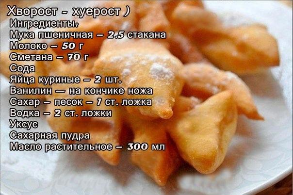 Хворост на желтках рецепт пошагово